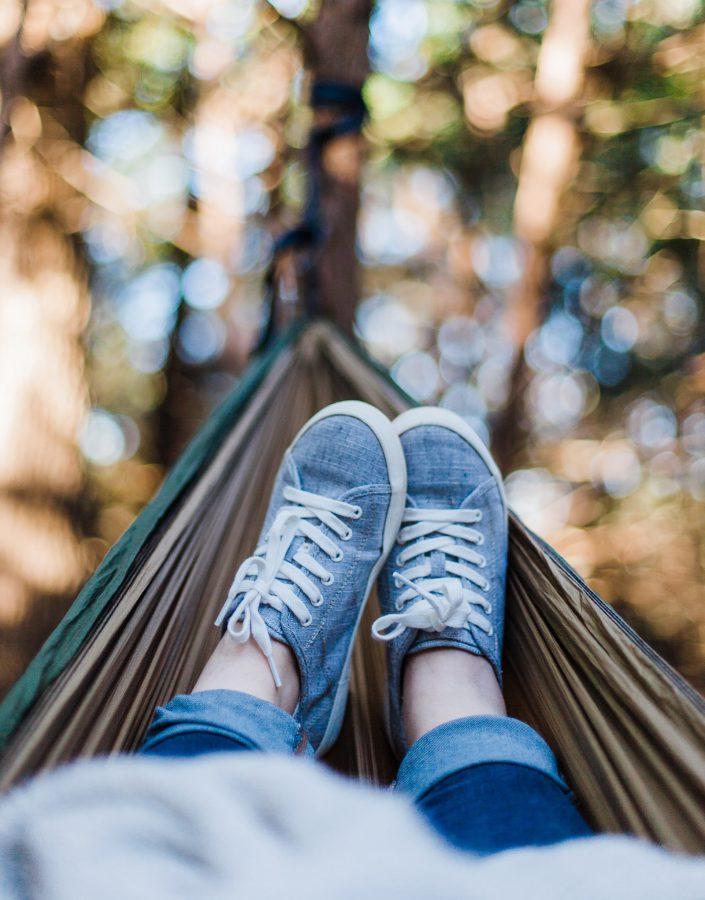 Hammock relaxing hypnotherapy session